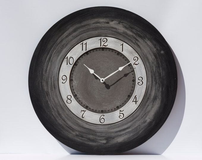 "24"" Two Tone Gray Wall Clock"