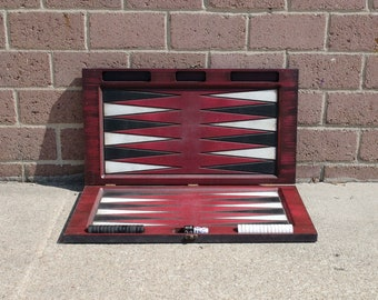 Colorful Painted Backgammon Board