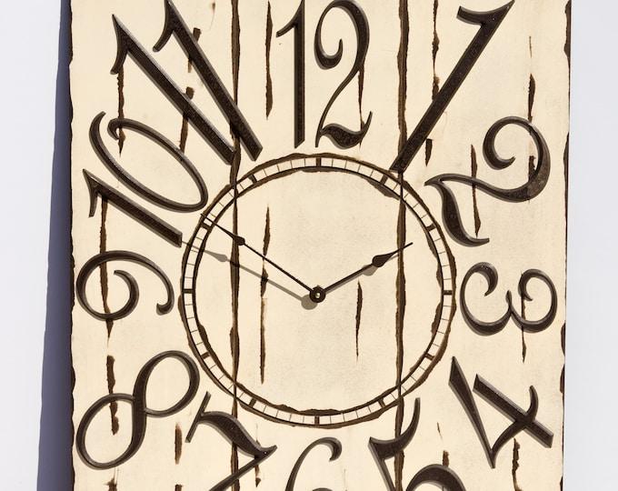 """Unique 24""""x30"""" Cream Wall Clock"""