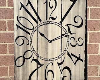 "24"" x 30"" Gray and Black Wall Clock"