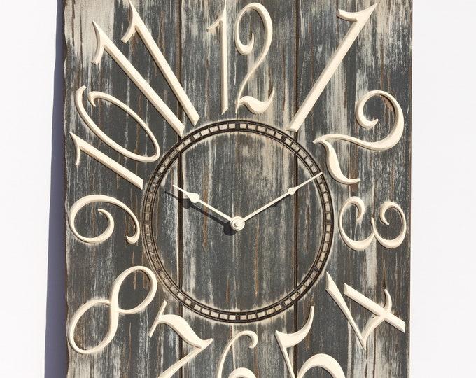Grey and White 18x24 Inch Wall Clock