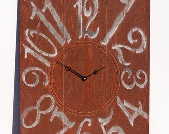 Unique Coco Brown 18x24 Inch Wall Clock