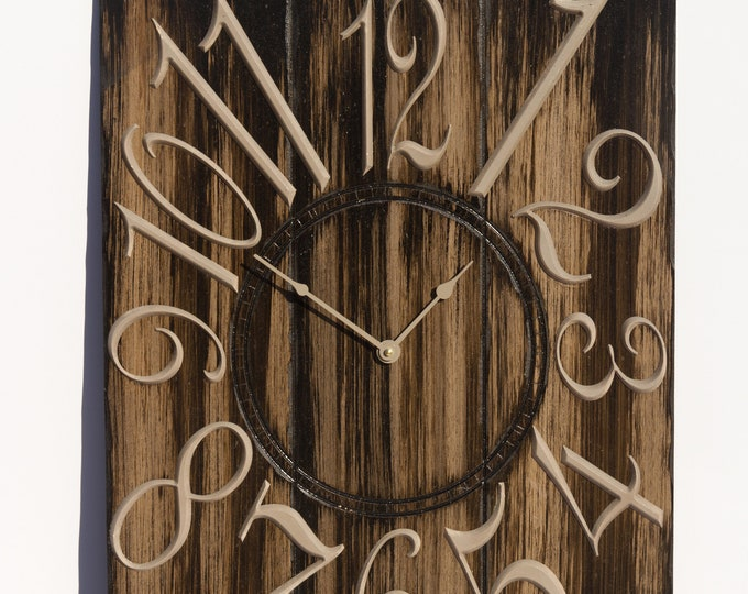 Unique Dark and Light Brown 18x24 Inch Wall Clock=