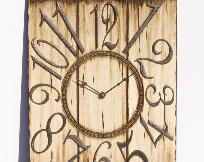 Light Brown 18x24 Inch Wall Clock
