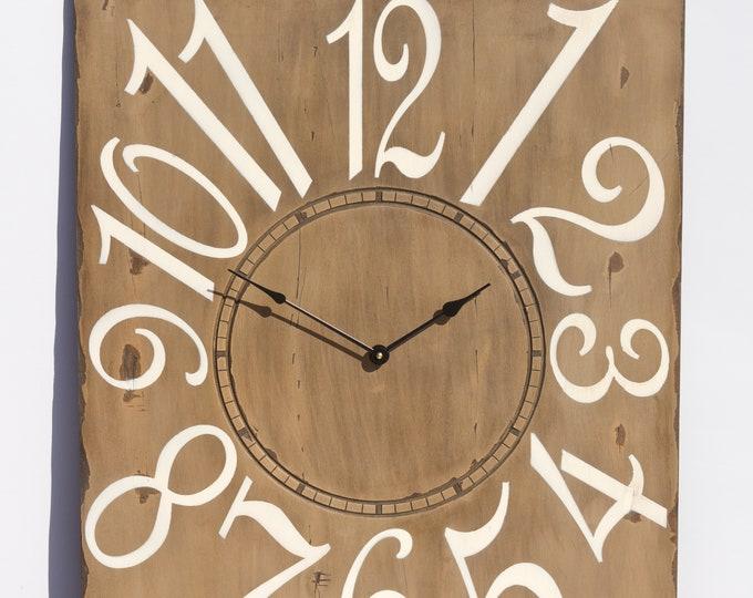 "Beautiful 24"" x 30"" Mocha and Cream Wall Clock"