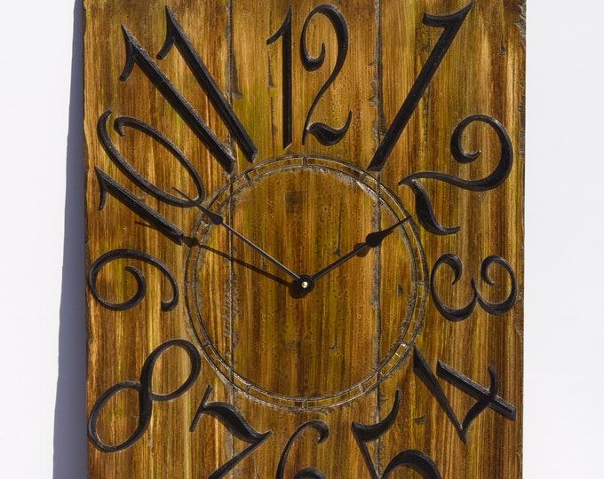 Unique Dark Brown and 18x24 Inch Wall Clock