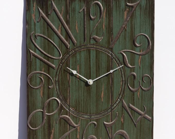 18x24 Inch Dark Forest Green Wall Clock