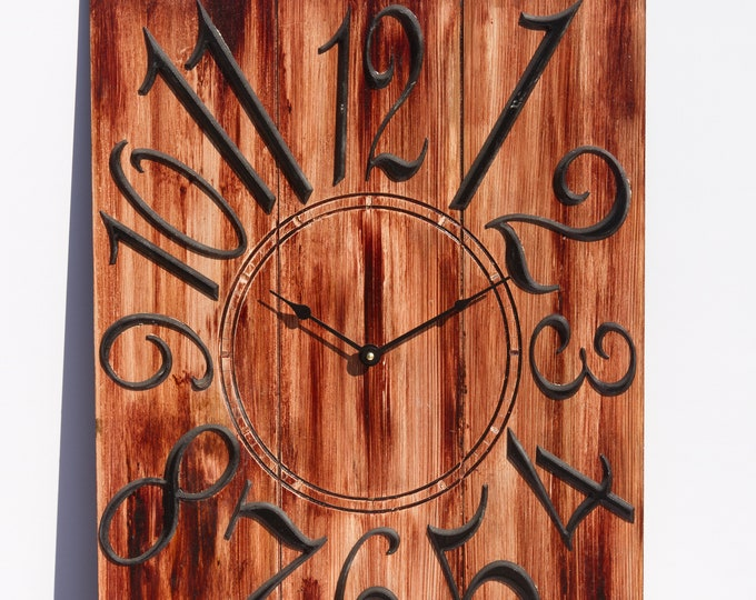 18x24 Inch Light Red Brown Wall Clock