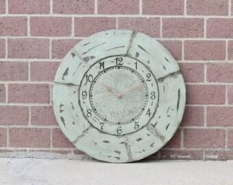 "24"" Sea Green Wall Clock"