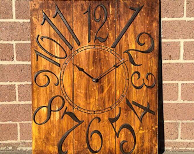 """24"""" x 30"""" Fiery Orange Wall Clock"""