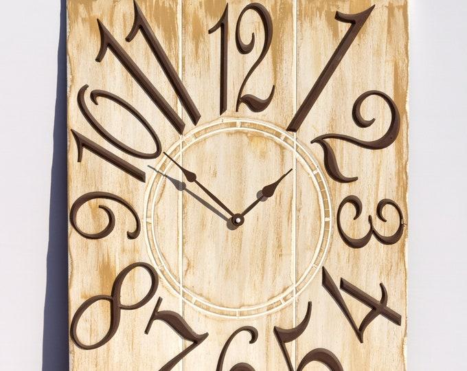 Tan 18x24 Inch Wall Clock