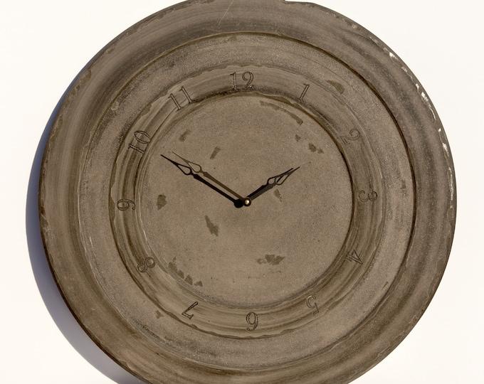 Dark Green and Grey 24 Inch Circle Clock