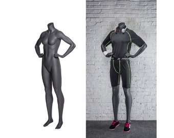 Female Sports Athletic Fitness Exercise Headless Mannequin With Base #NI-9