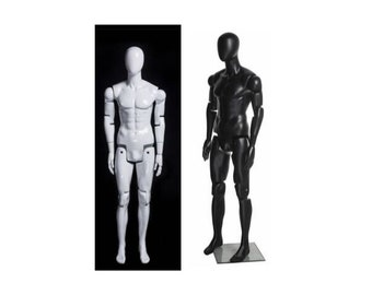 Base Included #HM01 Fully Pose-able Bendable Men/'s Male Mannequin Realistic Face Flesh-tone Skin Flexible Men/'s Mannequin