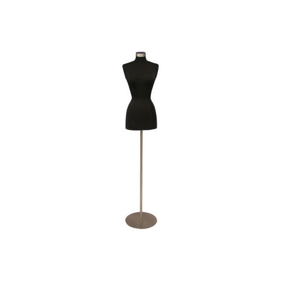 18//20 Off White Premium Fully Pinnable Womens Dress Form Female Mannequin Plus Size Dress Form Torso with Round Metal Base and Neck Cap