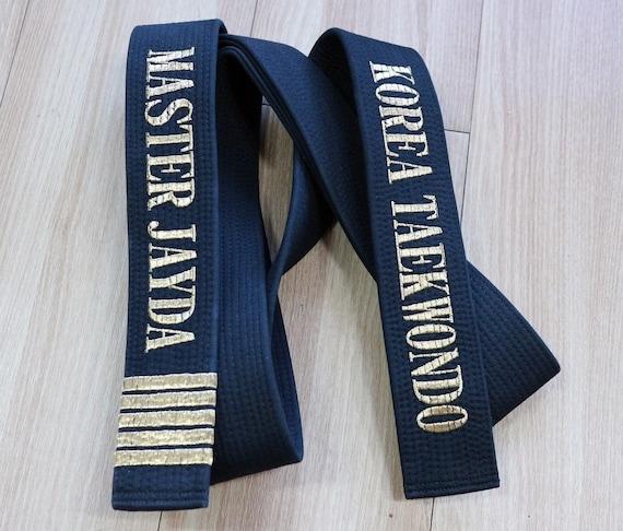 Custom Embroidered Black Belt for KARATE width 5cm 6cm TAEKWONDO JIU-JITSU