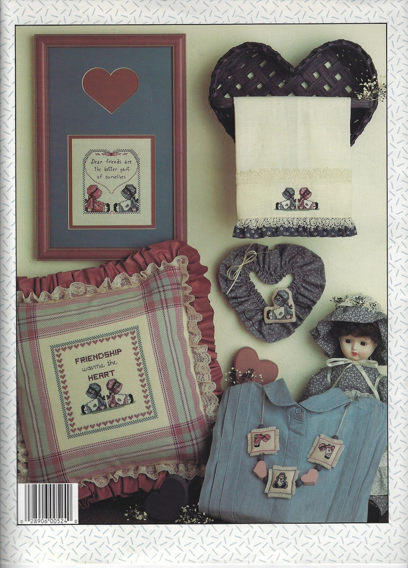 Dear Friends Counted Cross Stitch Pattern ~ Friendship Quotes ~ Marilynn Campbell Fisher Designs ~ Leaflet #524 for Leisure Arts