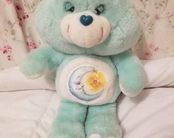 "1983 Vintage ""Kenner"" Original CARE BEARS Bedtime Bear Plush"