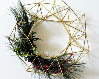 12 Inch Gold Himmeli Wreath — Wedding Decor | Gold Centerpiece | Geometric Wedding | Table Decorations | Housewarming Gift | Brass Wedding