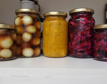 Home Made Pickles - Pickled Onions/Piccalilli/Pickled Red Cabbage