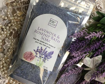 Lavender & Rosehip Bath Salts 30oz