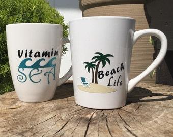 Beach Themed Coffee Mugs