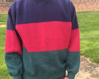 Vintage  Colorblock Sweatshirt mens L