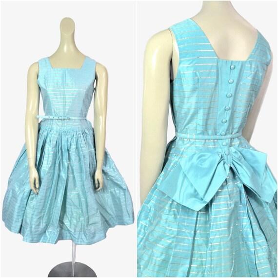 Vintage 50s Dress, Full Swing Skirt, Small Medium