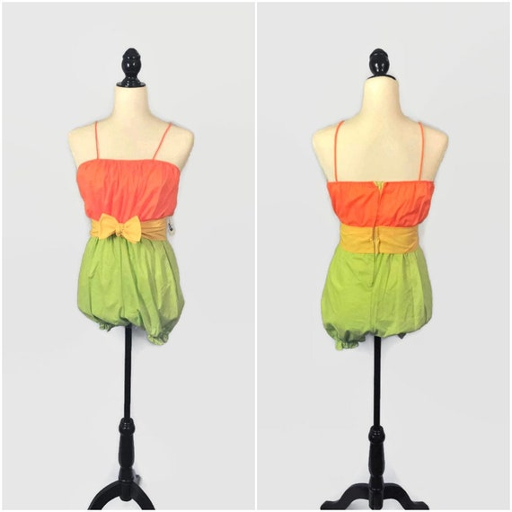 Vintage 70s Romper, XS Small, 60s Playsuit