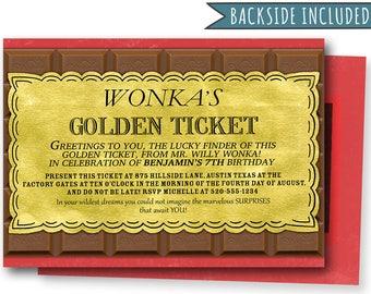 Willy Wonka Invite Etsy