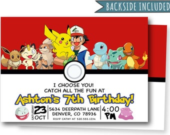 pokemon birthday invitation pokemon party invitations etsy