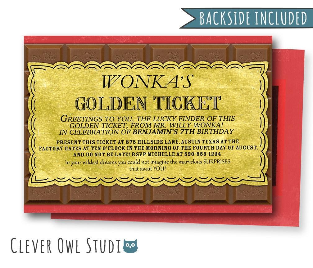 Willy wonka invitation willy wonka birthday invitation candy etsy zoom filmwisefo