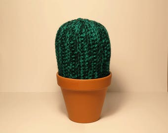 Large Hand Crocheted Cactus