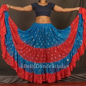 Chiffon Silk Skirt 25 Yard Skirt ATS Skirt Gypsy Skirt Tribal Skirt Belly Dance Skirt Hippie Boho SkirtFull Circle SkirtTieredSheer