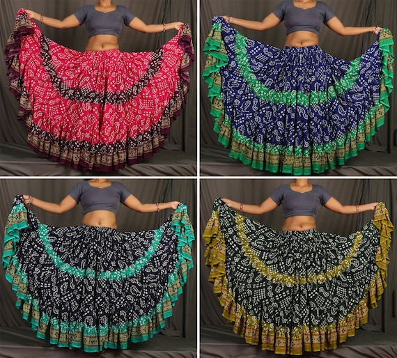 25 Yard Skirt Tribal Black POLKA DOT Belly Dance Skirts 100/% JAIPUR  ATS