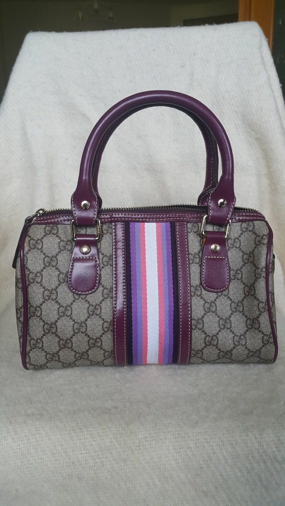 Vintage Gucci Boston Bag, Gucci Monogram Bag, Vint