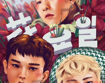 EXO-CBX Blooming Day Print (11*17 inch)