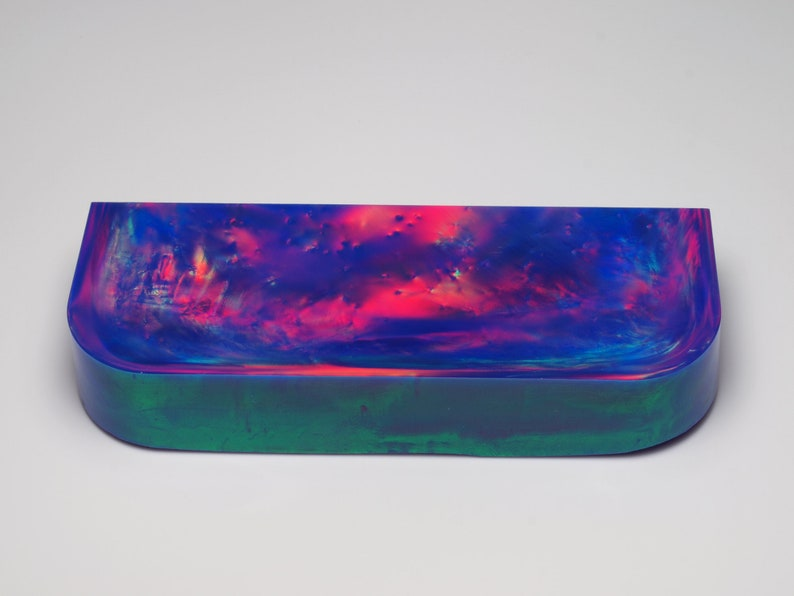 Purple Opal for Opal Jewellery Aurora Opal Lab Created Opal, Imitation Opal ~ 113 x 40 x 20 mm 121.15 g Opal Carvings or Opal Inlays