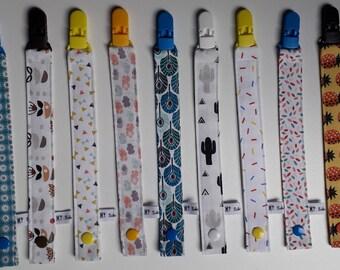 Fabric nipple fastener / custom nipple fastener / embroidered lollipop tie