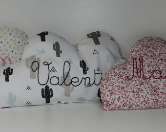 Customizable cloud cushion / embroidered cloud cushion / baby decoration / on order