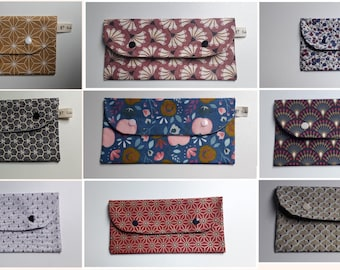 Mask pouch / mask storage case / fabric pouch