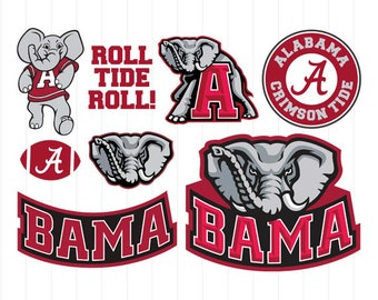 alabama clipart etsy rh etsy com free university of alabama football clipart University of Alabama Logo