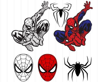 INSTANT DOWNLOAD   Spiderman Svg, Spiderman Clipart, Superhero Svg,  Superhero Clipart, Spiderman Digital Download, Spiderman Svg Cut Files