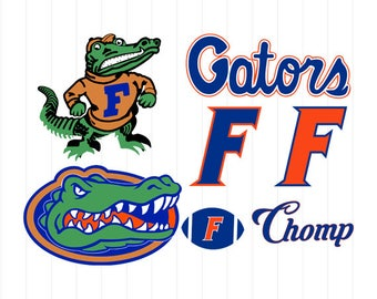 florida gators art etsy rh etsy com florida gators football clipart florida gator clipart black and white