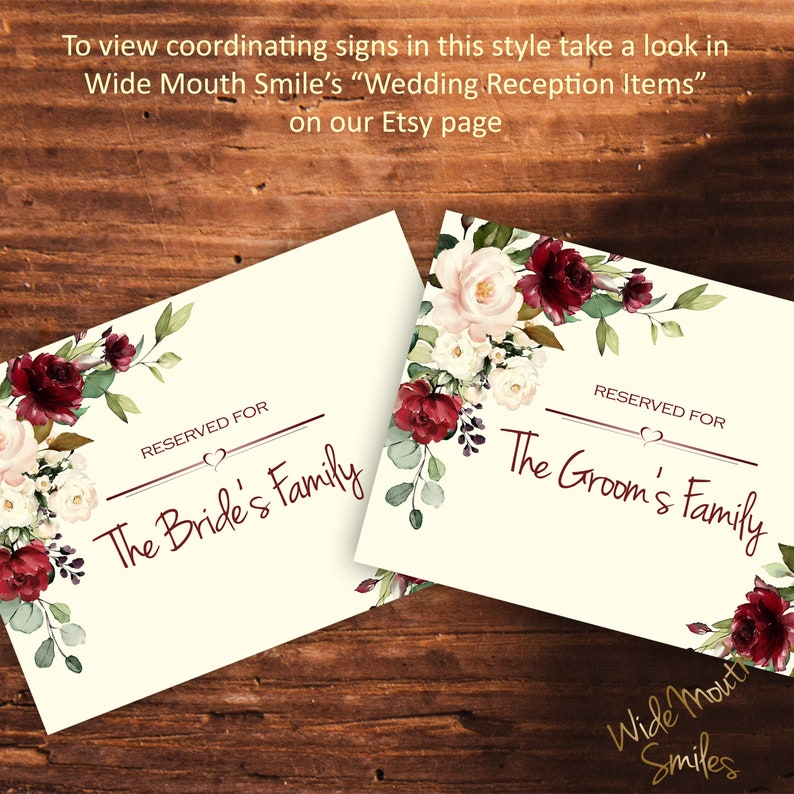 A4 digital download files table numbers 1-12 included Wedding table number signs bundle perfect for a winter wedding theme