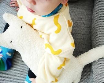 Cuddly toy cat HANK - cotton organic stuffed animal, baby organic toy, children's toys, beige organic plush toy, Scandinavian children's room