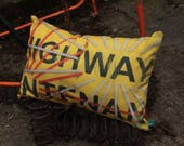 WAY IN - Highway Maintenance Large Authentic Cushion