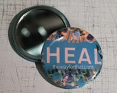 HEAL BLUE Close Up Compact Mirror