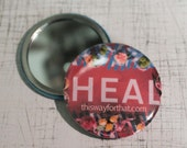 HEAL RED Close Up Compact Mirror