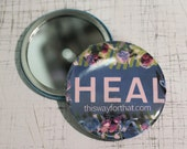 HEAL DARK BLUE Close Up Compact Mirror